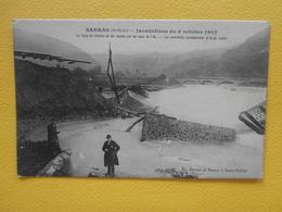 CPA De SARRAS (07) : Inondations Du 8 Octobre 1907, Ligne Du Chemin De Fer Coupée Par Les Eaux De L'Ay - Autres Communes