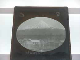 Mount Taranaki, Or Mount Egmon NEW ZEALAND PHOTO J MOORE BIRMINGHAM  Photo Plaque De Verre GLASS SLIDE  CIRCA EARLY 1900 - Diapositivas De Vidrio