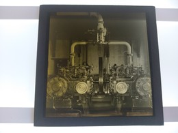 ENGINES    Photo Plaque De Verre GLASS SLIDE  CIRCA EARLY 1900 - Diapositivas De Vidrio