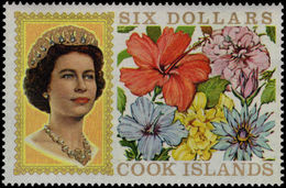 Cook Islands 1967-71 $6 Without Fluorescent Markings Unmounted Mint. - Cook Islands