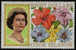 Cook Islands 1967-71 $8 Without Fluorescent Markings Unmounted Mint. - Cook Islands