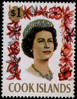 Cook Islands 1967-71 $1 With Fluorescent Markings Unmounted Mint. - Cook Islands