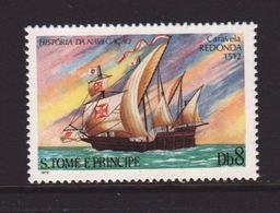 St. Thomas 1979, Tallship, Minr 602, MNH - São Tomé Und Príncipe