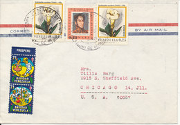 Venezuela Air Mail Cover Sent To USA 1971 Topic Stamps And TB Seals - Venezuela