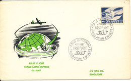 Norway First SAS Flight Trans Asian Express Scandinavia - Singapore 4-11-1967 - Norway