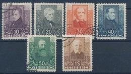 1931 Oesterreich Wohlfahrtserie Nr. 524-529 Used - 1918-1945 1a Repubblica