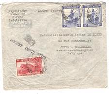 PR6294/ TP 241-244(2) S/L.Avion C.Jadotville 1945 Censure Congo Belge 36 V.Jette BXL - Congo Belge
