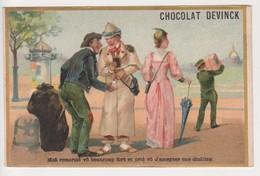 20810 Chromo Chocolat Bonbons Rhum Antilles DEVINCK Paris -imp Farradesche Moa Anglais Shelling Mode - Chocolat