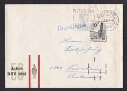 Germany: Cover, 1966, 1 Stamp, Berlin, Tab, Early Black Postcode Sorting Markings (minor Damage) - Brieven En Documenten