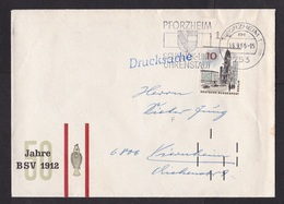 Germany: Cover, 1966, 1 Stamp, Berlin, Tab, Early Black Postcode Sorting Markings (minor Damage) - [7] West-Duitsland