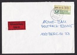 Germany: Express Cover, 1987, ATM Machine Label, High Value *430, Expres Label (minor Damage) - [7] West-Duitsland
