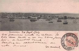 URUGUAY - CARTE POSTALE DE MONTEVIDEO LE 30-9-1904 POUR LA FRANCE - CACHET PAQUEBOT BUENOS-AYRES A BORDEAUX. - Uruguay
