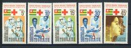 TOGO: CROIX ROUGE N° Yvert 485/489** - Togo (1960-...)
