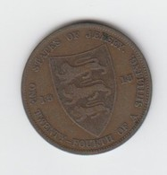 Jersey Coin George V One Twentyforth Of A Shilling 1/24 Dated 1913 - Jersey