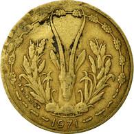 Monnaie, West African States, 10 Francs, 1971, TB+, Aluminum-Nickel-Bronze - Côte-d'Ivoire