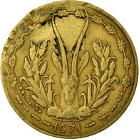 Monnaie, West African States, 10 Francs, 1971, TB+, Aluminum-Nickel-Bronze - Ivory Coast