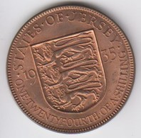 Jersey Coin George V One Twentyforth Of A Shilling 1/24 Dated 1935 - Jersey
