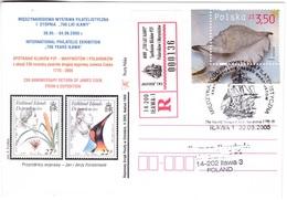 M418 Poland Recommandée Registered Letter 2005 Ilawa 230 Anniversaire Du Retour De James Cook De La II Expedition. - Explorateurs