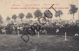 Postkaart - Carte Postale BORGWORM/WAREMME Courses Hippiques-Paarden/Chevaux Vue Sur La Pelouse 1909 (O24) - Waremme