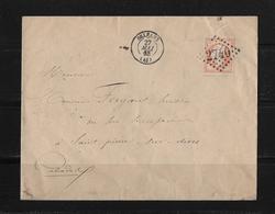 1863-1870 Napoléon III. Laure → Lettre Orleans 1865 à Saint-Pierre-sur-Dives Et Losange 2740 - 1863-1870 Napoléon III Lauré