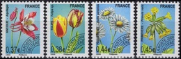 FRANCE Préo 253 à 256 ** MNH Fleur Sauvage Tulipe Primevère Ancolie Pâquerette (CV 12 €) - Préoblitérés