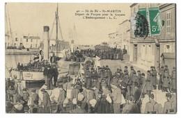 17-ILE DE-RE-ST-MARTIN-Départ De Forçats Pour La Guyane - L'Embarquement...  Animé - Saint-Martin-de-Ré