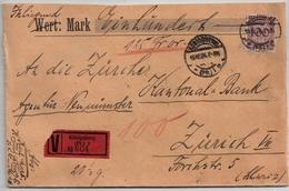 DR, 1926, Nr. 343 , Selt  EF, Auslands -Wert-Bf.     , #a1939 - Deutschland