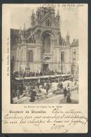 +++ CPA - BRUSSEL - Souvenir De BRUXELLES - Le Marché Et L'Eglise De ST GILLES - Nels Série 1 N° 64  // - Markten