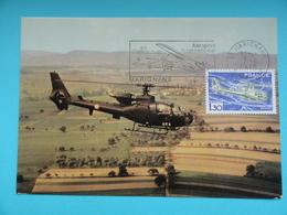 CARTE MAXIMUM CARD GAZELLE AVEC FLAMME ILLUSTREE  FRANCE - Hélicoptères