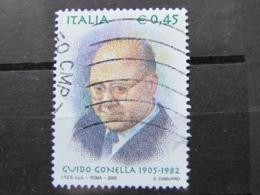 *ITALIA* USATI 2005 - CENT GUIDO GONELLA - SASSONE 2839 - LUSSO/FIOR DI STAMPA - 6. 1946-.. Repubblica