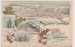 Diekirch - LITHO - Hotel De Ville - Herzlichen Glückwunsch - 1899 - Diekirch