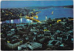 Istanbul - A View Of Galata Bridge, Bosphorus And Scutary   - Night  - (Türkiye) - Turkije