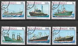 MOZAMBICO  1981 GIORNATA DELLA MARINA YVERT. 833-838 USATA VF - Mozambico