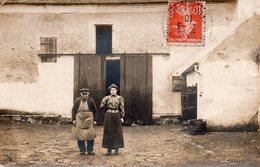 / Carte Photo D 'une Ferme Située Au Mesnil Aubry Envoyée à Une Cultivatrice De Villiers Le Bel - Altri Comuni