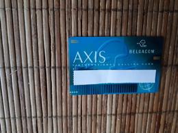 Axis Belgacom  Personalised Belgium Used 2 Scans Rare - Belgique