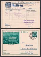 """Deutsches Reich C-GanzsacheBad Orb Kurhaus """"Lernt Deutschland Kennen"""" 1935, Zigaree Rauchwaren Nikotin, 6 Pf. Hindenburg - Postwaardestukken"""