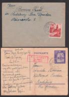 Olesko Ukraine  Generalgouvernement 1942, Karte - Gebrochen - 12 Gr. GA Kriezpel über Bilgoraj District Lublin, - Besetzungen 1938-45