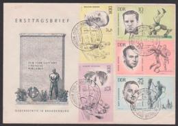 Kurt Schlosser Bergsteiger, Hein Stey Antifaschistische Sportler FDC DDR 958/62 M. Zdr. Auf Einem Umschlag, Seelenbinder - [6] Democratic Republic
