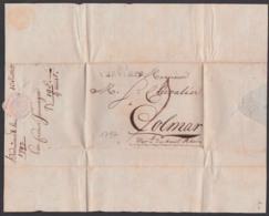 Verviers Belgien Altbrief Von 1797 Nach Colmar Mit Inhalt, Papiersiegel - 1794-1814 (Periodo Frances)