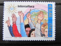 *ITALIA* USATI 2005 - 50° FONDAZIONE INTERCULTURA - SASSONE 2841 - LUSSO/FIOR DI STAMPA - 6. 1946-.. Repubblica