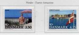 """PIA - DANIMARCA - 1991 - """"Norden 91"""" - Turismo Nelle Regioni Del Nord - (Yv  1007-08) - Vacanze & Turismo"""