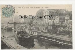 75 - PARIS 19 -- #3 -- Le Canal St-Martin à La Villette +++ E. V. / EV +++ 1904 - Arrondissement: 19