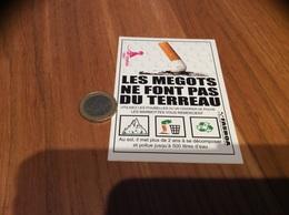 AUTOCOLLANT, Sticker «LES MÉGOTS NE FONT PAS DU TERREAU » - Autocollants