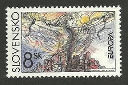 SLOVAKIA CZECHOSLOVAKIA 1995 EUROPA PEACE & FREEDOM ALLEGORY SET MNH - Slovakia