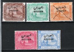 Soudan 1897 Y.T. 1/5 */MH VF/F - Sudan (1954-...)