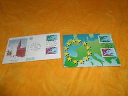 ENVELOPPE FDC + CARTE POSTALE 1ER JOUR DE 1991. / CONSEIL DE L'EUROPE STRASBOURG.....CACHETS STRASBOURG + TIMBRE - 1990-1999
