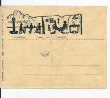 Enveloppe Illustrateur /Lettre Illustrée Satirique Et Publicitaire: Lutte Conte L'Alcool , La Misère - France