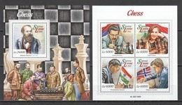 TT645 2015 SIERRA LEONE GAMES CHESS 1KB+1BL MNH - Schaken