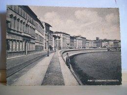 1954 -  Pisa - Lungarno Pacinotti - Cartolina D'epoca Originale - Pisa