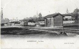 AMBRONAY 01 AIN LA GARE LIGNE SECONDAIRE EDIT CORDIER - Altri Comuni